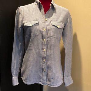 Banana Republic Soft Wash Linen Shirt Small EUC